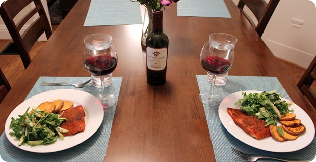 blue apron wine pairing dinner