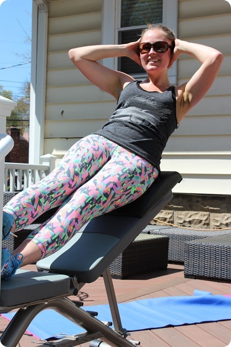 oblique exercise on bench
