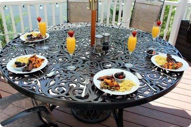 hosting brunch at home