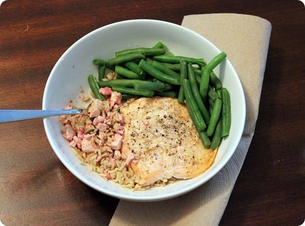salmon feta dinner