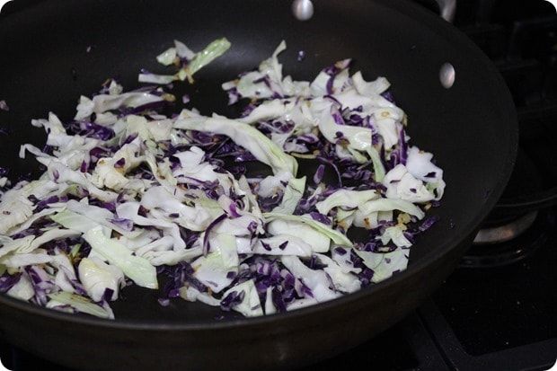 seared cabbage