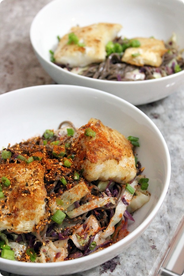 asian noodle cabbage cod