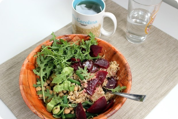 grain salad bowl for lunch