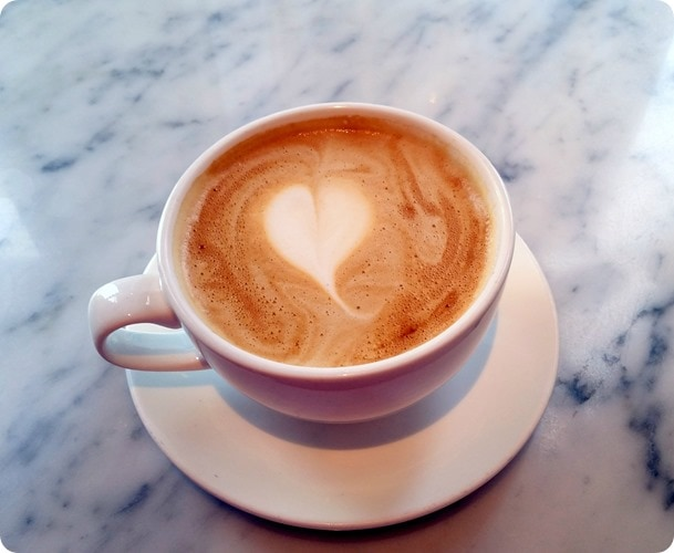 coffee shop heart
