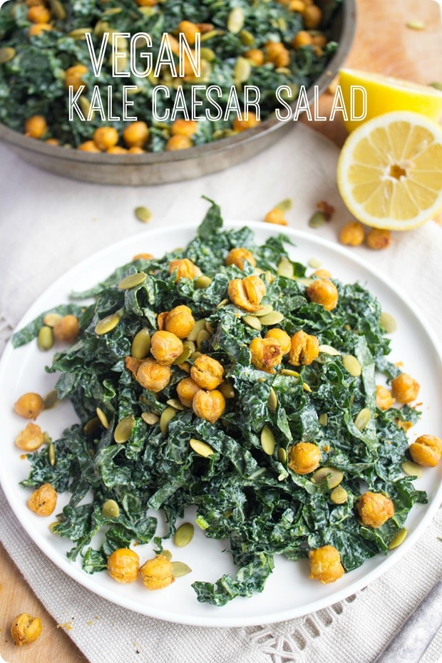 vegan kale caesar salad recipe tastes just like classic caesar salad ...