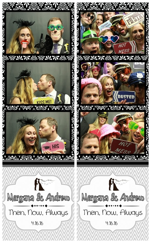 morgana phlaum andrew mauney wedding photo booth