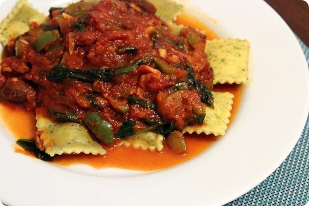 healthy ravioli