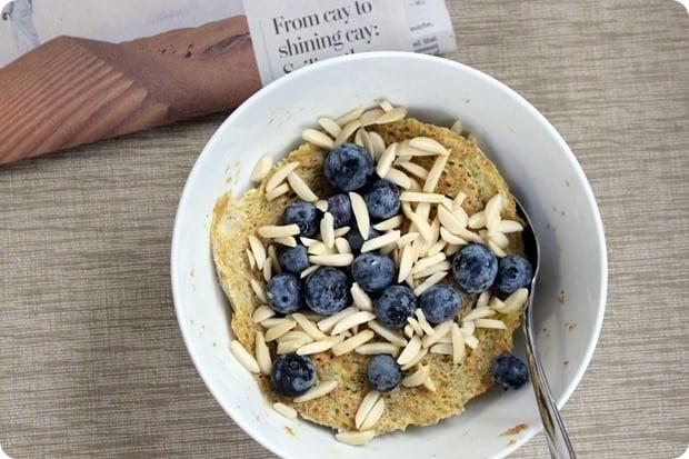 flour free microwave breakfast