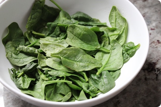 how to wilt spinach in the microwave
