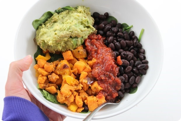 healthy mexican power bowl