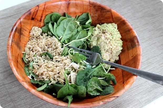 tuna grain salad bowl