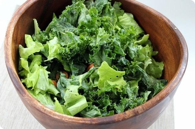 simple massaged kale salad