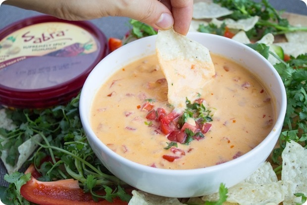 hummus queso healthy appetizer game day 7