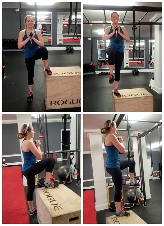 weighted lateral box step up