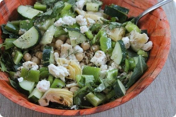 easy dinner salad grain bowl