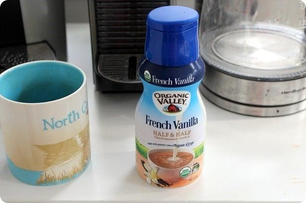 organic valley french vanilla half and half