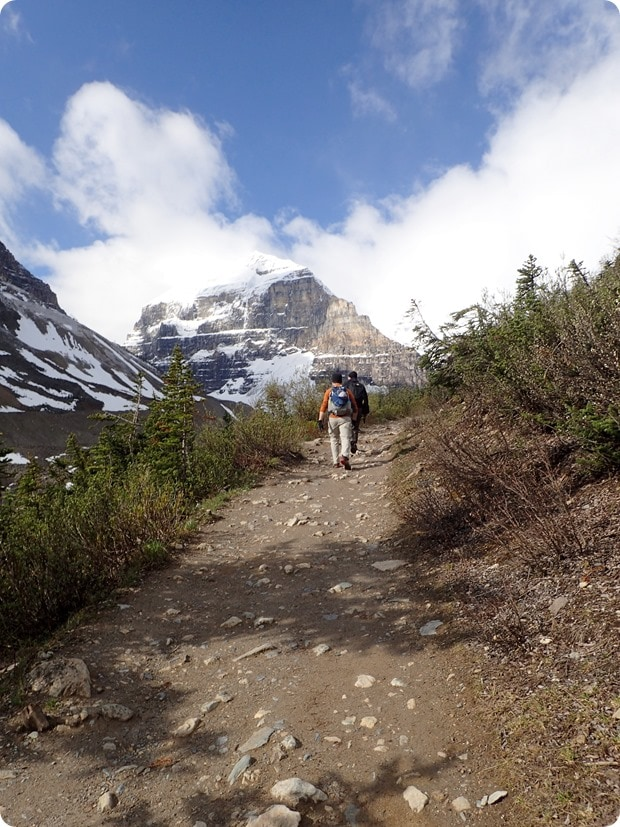 hiking the plain of six glaciers