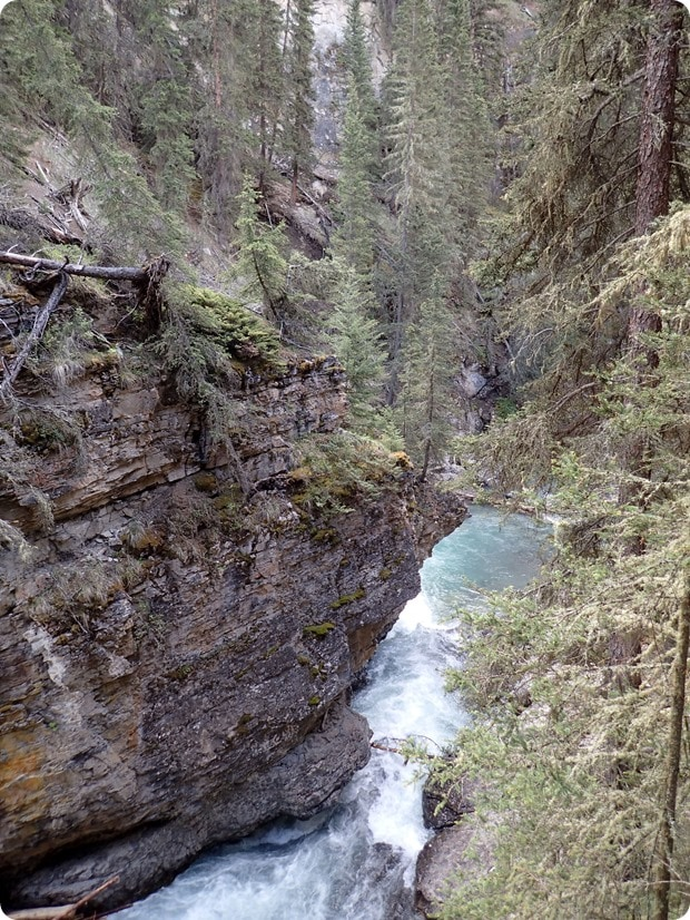 hiking johnson canyon banff