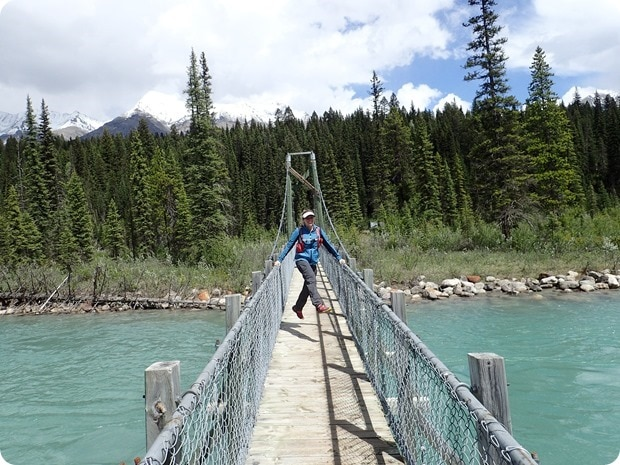 dog lake hike suspension bridge