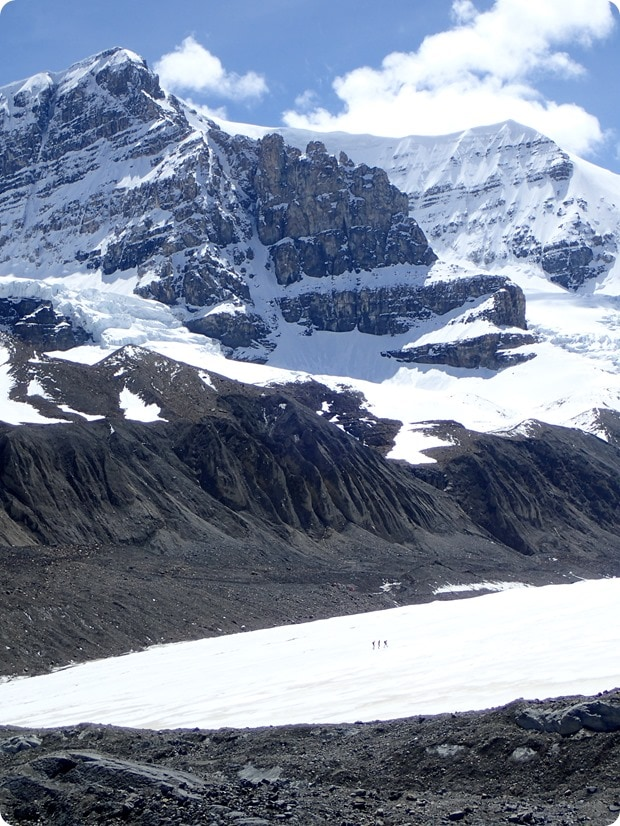 hiking on athabasca glacier