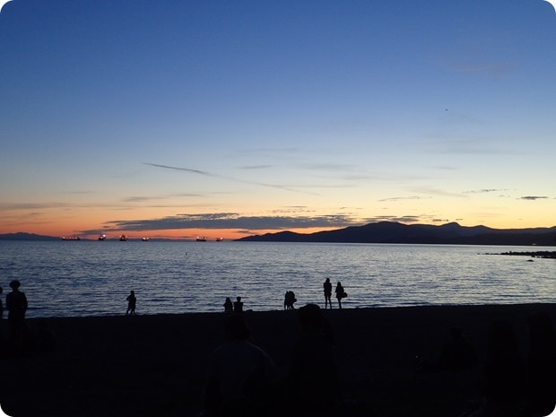 vancouver sunset seawall