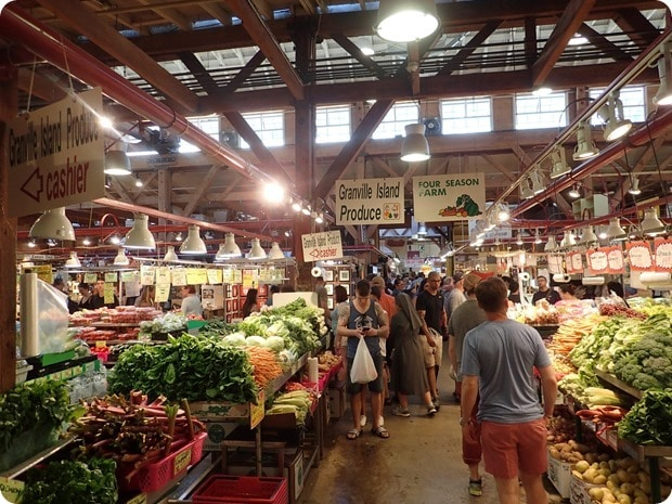 granville island public market produce