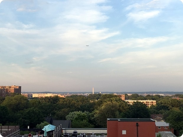 view of DC from clarendon roofdeck