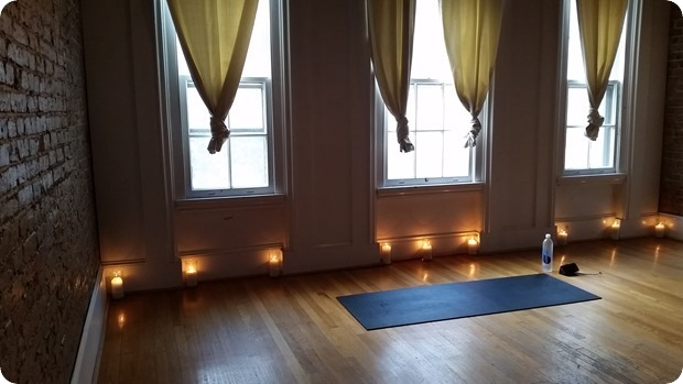 yoga class candles