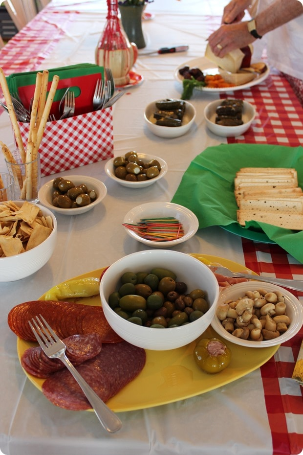 italian themed appetizers