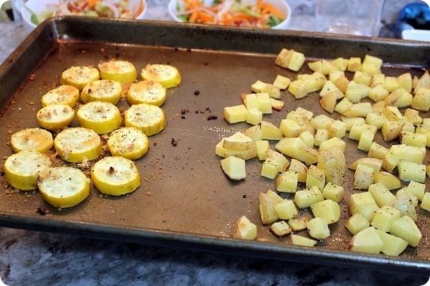 parmesan roasted squash