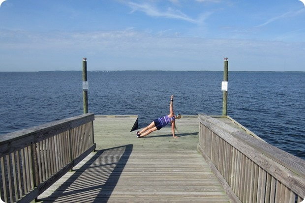 side plank beach boardwalk