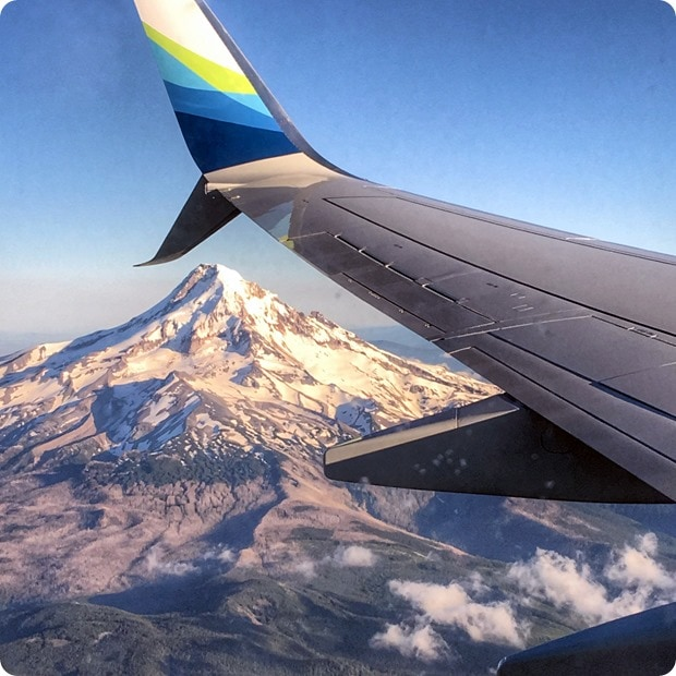 mountain view flying in to portland oregon