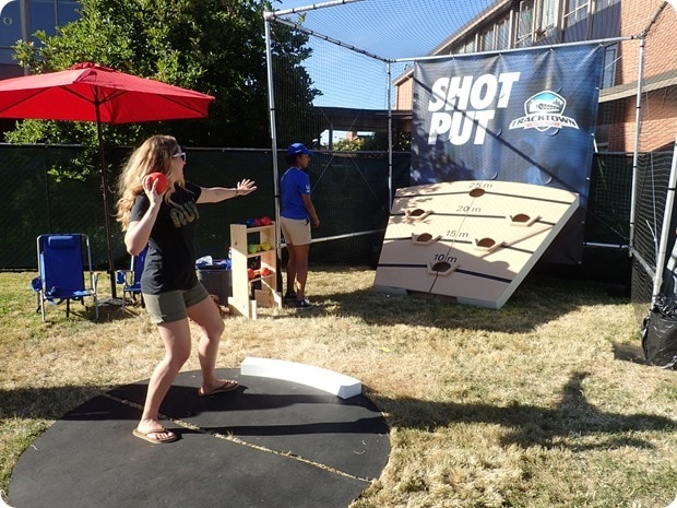 tracktown shot put