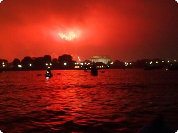 4th of july washington dc fireworks via kayak
