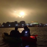 washington dc fireworks by kayak