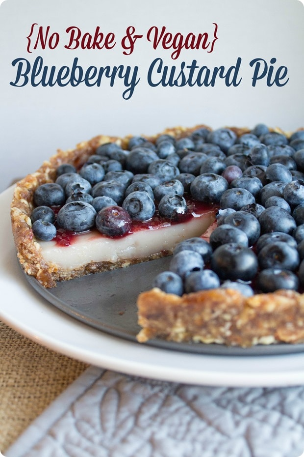 no bake blueberry custard pie