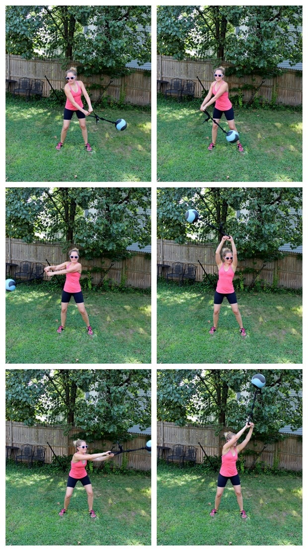 oblique stretch swing with ball
