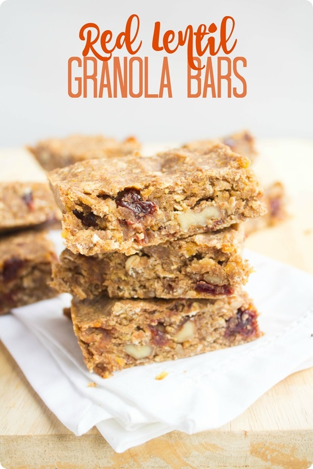 red lentil granola bars recipe