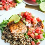 salmon with watermelon salsa