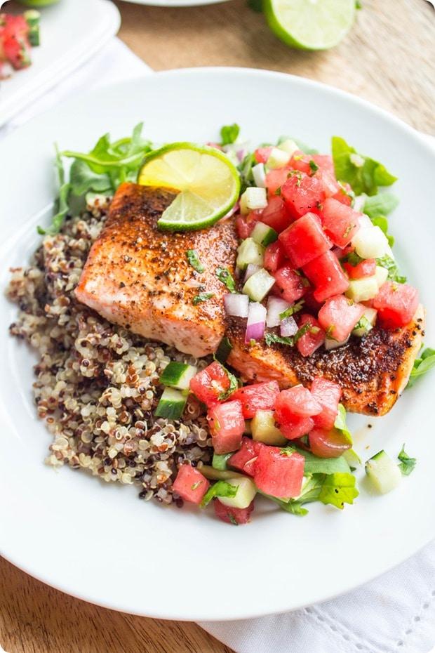 watermelon salmon recipe