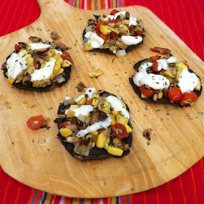 Grilled-Veggie-Portobello-Mushroom-Pizzas