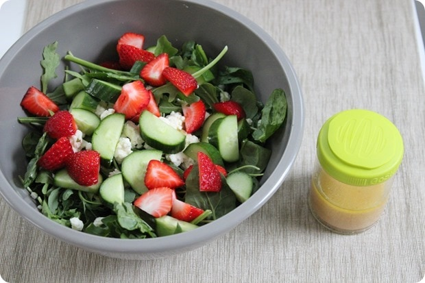 strawberry cucumber feta salad