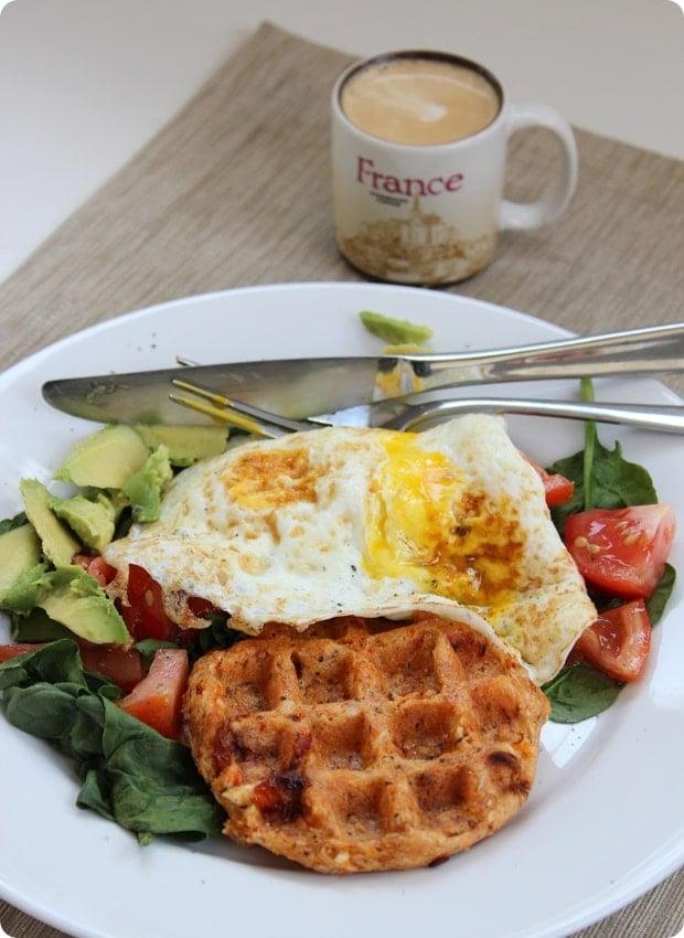 healthy breakfast waffles savory