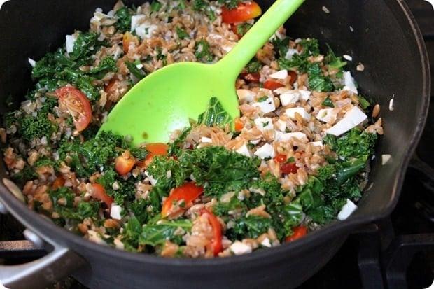 farro veggie salad