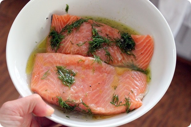 easy lemon dill salmon marinade