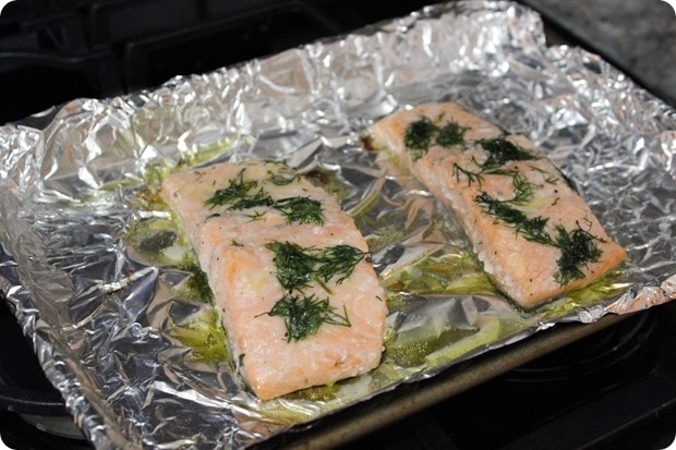 baked salmon with lemon dill