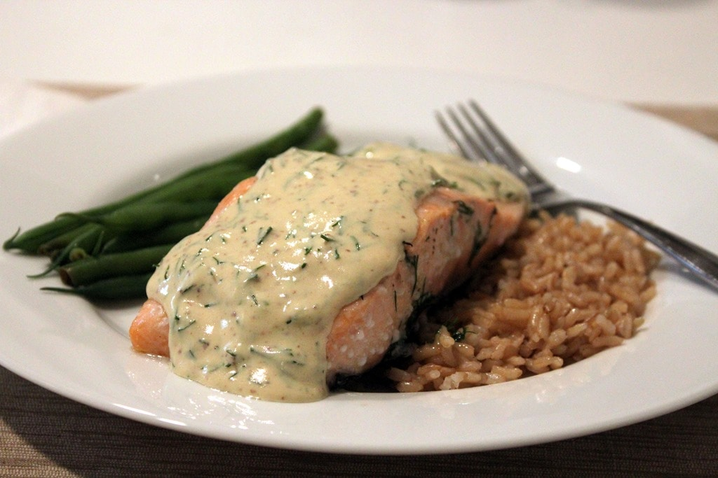 Lemon Mustard Dill Salmon
