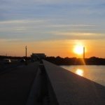 washington dc sunrise memorial bridge