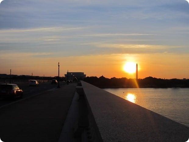 washington dc sunrise memorial bridge