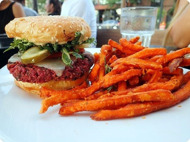 veggie burger northstar cafe